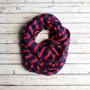 GAP Unisex Striped Infinity Scarf Red/Navy